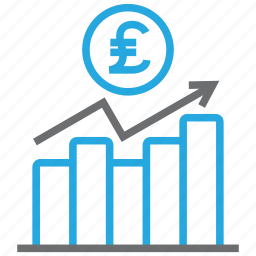 chart, diagram, graph, money, pound, report, statistics icon