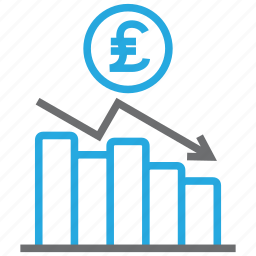 chart, diagram, graph, money, pound, report, statistics icon
