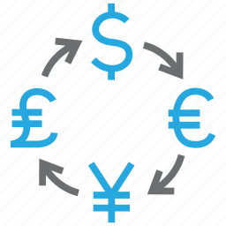 coin, conversion, convert, currency, exchange, money, rate icon