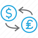 coin, conversion, convert, dollar, exchange, pound, rate