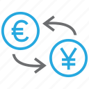 coin, conversion, convert, euro, exchange, rate, yen icon