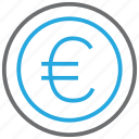 credit, currency, debit, euro, money, profit, turnover icon