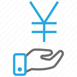 credit, currency, debit, money, profit, turnover, yen icon