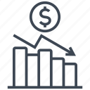 chart, coin, diagram, dollar, graph, money, statistics icon