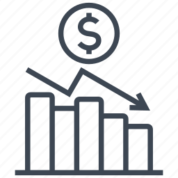 chart, coin, diagram, dollar, graph, money, statistics icon