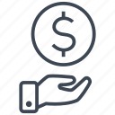 cash, credit, currency, debit, dollar, finance, money icon