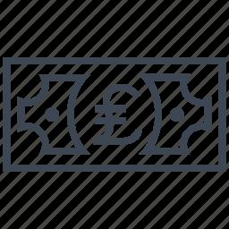 cash, credit, currency, debit, finance, money, pound icon