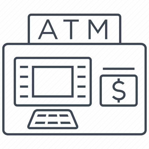 atm, bank, banking, machine, money, salary, withdraw icon