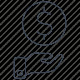 cash, credit, currency, debit, dollar, money, shopping icon