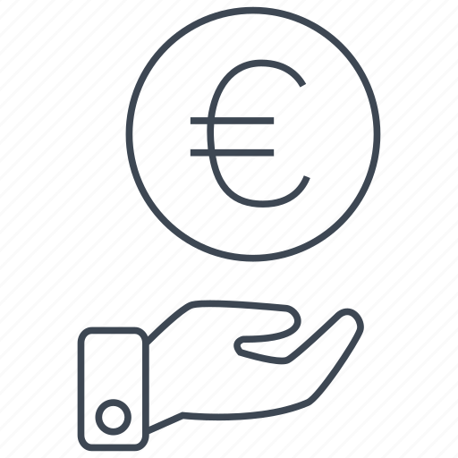 cash, credit, currency, debit, euro, money, shopping icon