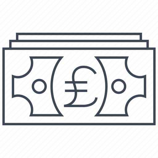 cash, credit, currency, debit, money, pound, shopping icon