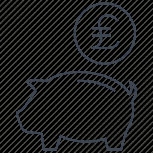 coin, guardar, money, pig, piggy, pound, save, saving icon