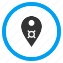 bank pointer, currency, location, map marker, navigation, payment, place icon