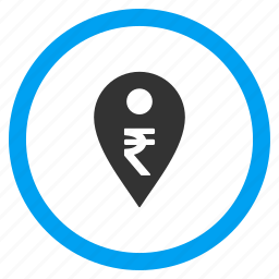 bank location, banking pointer, currency, indian rupee, map marker, payment, pin icon