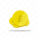 coins, currency, font, gbp, monetary, money, pound icon