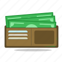 currency, monetary, money, purchase, salary, wage, wallet icon