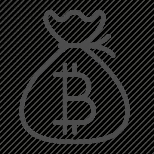 Bitcoin money bag savings icon icon search engine for Transparent piggy bank money box