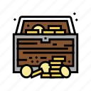 treasure, chest, found, pirate, game, currency