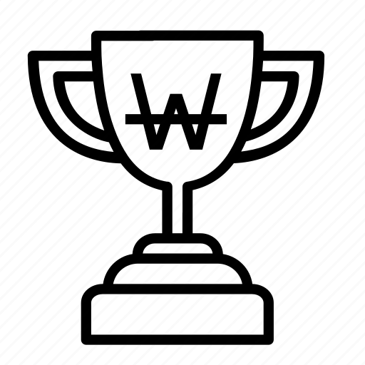 currency, medal, money, price, sign, trophy, won icon