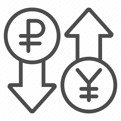 conversion, currency, exchange rate, rouble, ruble, yen, yuan icon