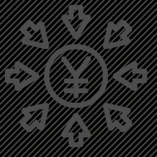 chinese, currency, japanese, renminbi, yen, yuan icon