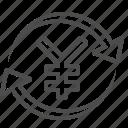 arrows, conversion, exchange rate, transaction, yen, yuan icon