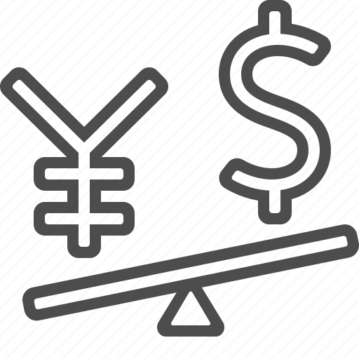 conversion, currency, dollar, exchange rate, yen, yuan icon