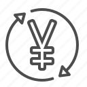 arrows, conversion, exchange rate, transaction, yen, yuan icon