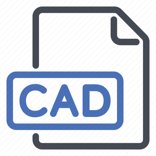 aided, cad, computer, design, extension, file icon
