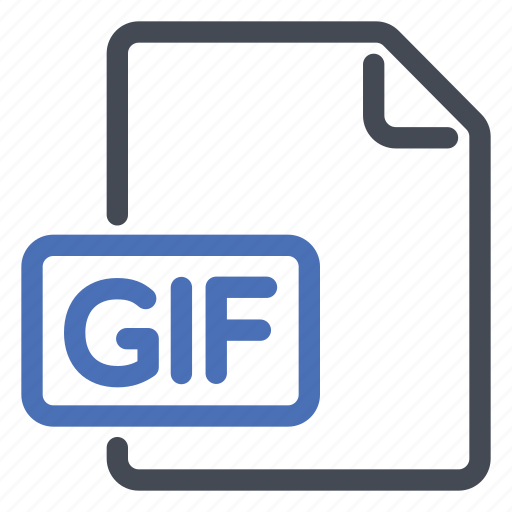 animated, extension, file, gif icon