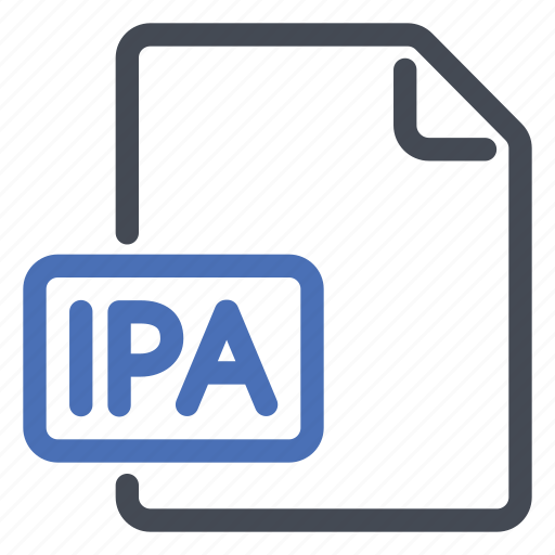 extension, file, ipa icon
