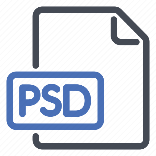 extension, file, psd icon