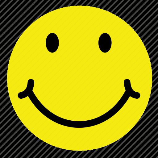 emoticon, happy, smile, smiley, style, vintage, yellow icon
