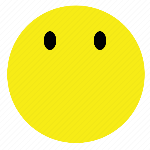 emoticon, no, smiley, vintage, words, yellow icon