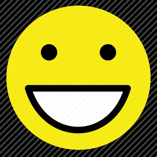 emoticon, eyes, round, smile, smiley, vintage, yellow icon