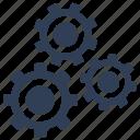 gears, maintenance, settings, technical service