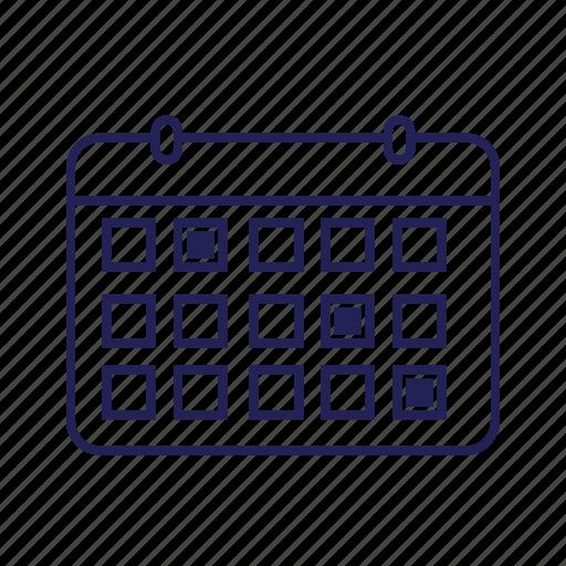 calendar, dates, events icon