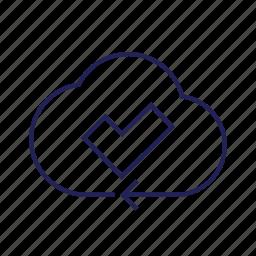 cloud, s, saved, sync, ynchronized icon