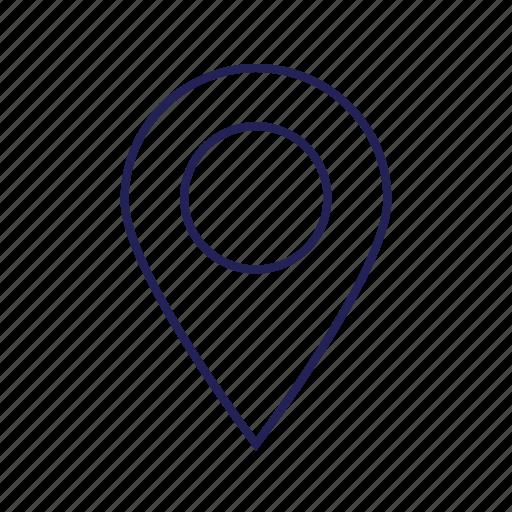 localization, location, pin icon