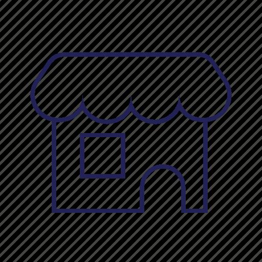 marketplace, physical, shop icon