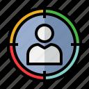 focus, target, objective, center, ads