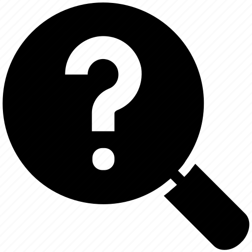common question, faq, find, magnifier, question mark, search, service icon