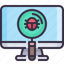 bug, computer, develop, development, fix, virus icon