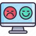 bad, feedback, good, rate, rating, service icon