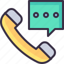 call, communication, message, phone, service, support icon