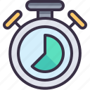 chronometer, management, time icon