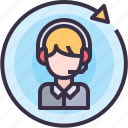 call, communication, message, people, service, support icon