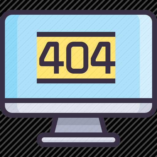 computer, develop, error, page, website icon