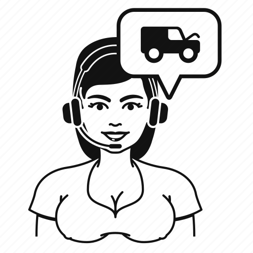 avatar, customer, services, van, woman icon
