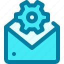 email, gear, mail, message, settings, support, technician